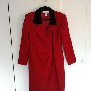 EUC Vintage Jones New York red dress sz 8